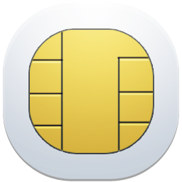Vector Drawing Sim Card image #25739