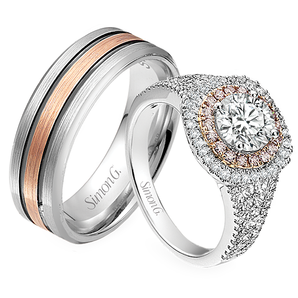 Simon G Jewelry Couple Rings Png image #45293