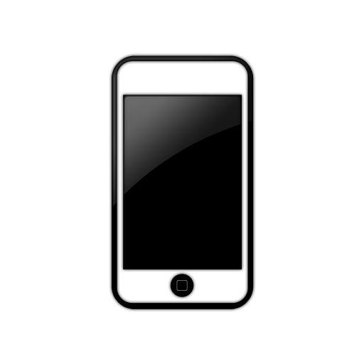 Simple Black Window White Iphone Icon image #38341