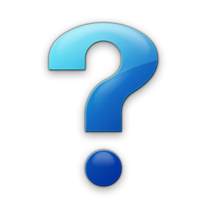 Simple Blue Question Mark Icon