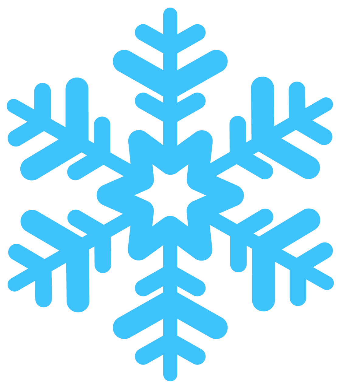 simple blue snowflakes png