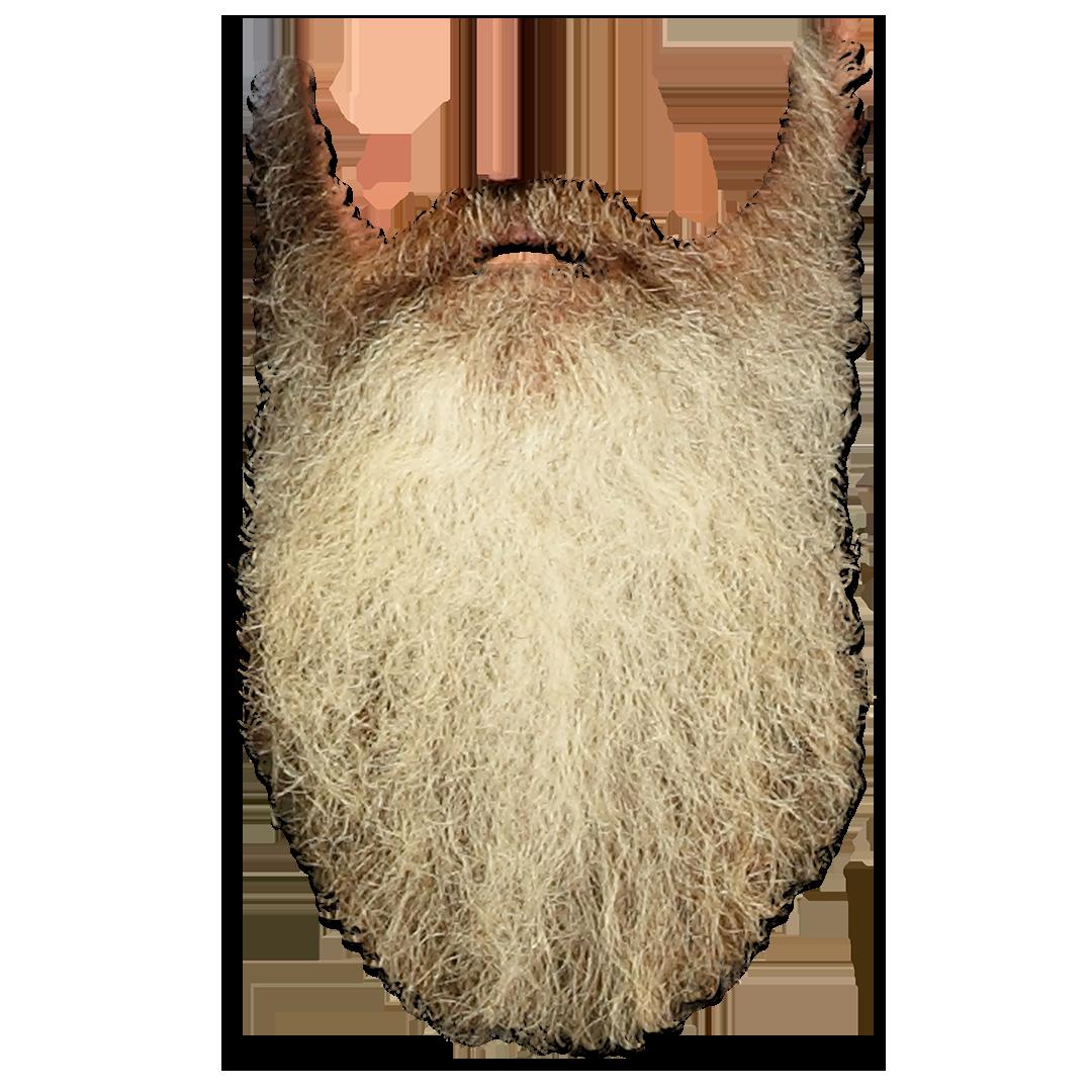 simple brown beard png