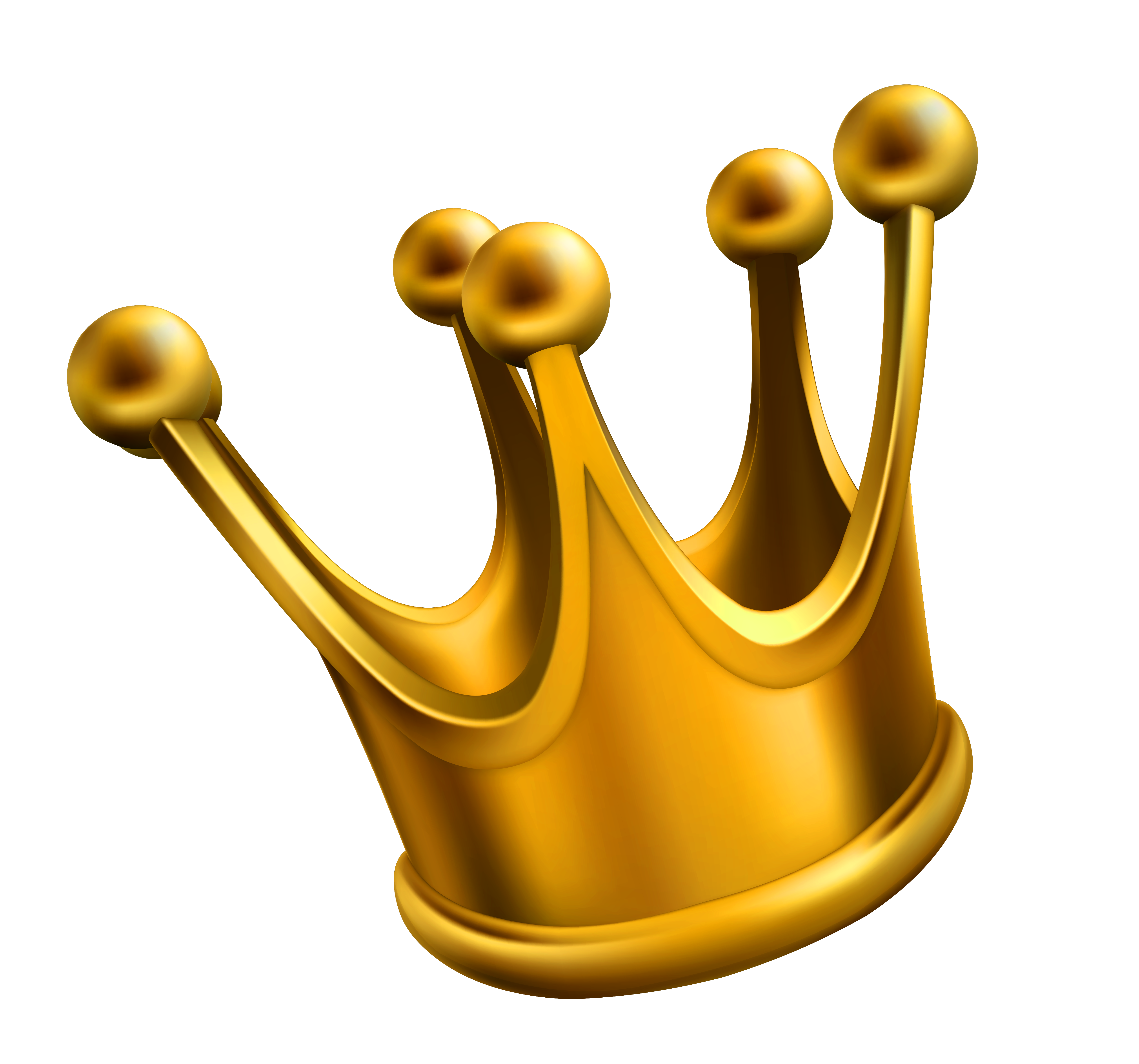 Simple Golden Crown Png image #29925