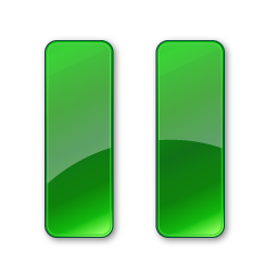 Simple Green Pause Icon image #29584