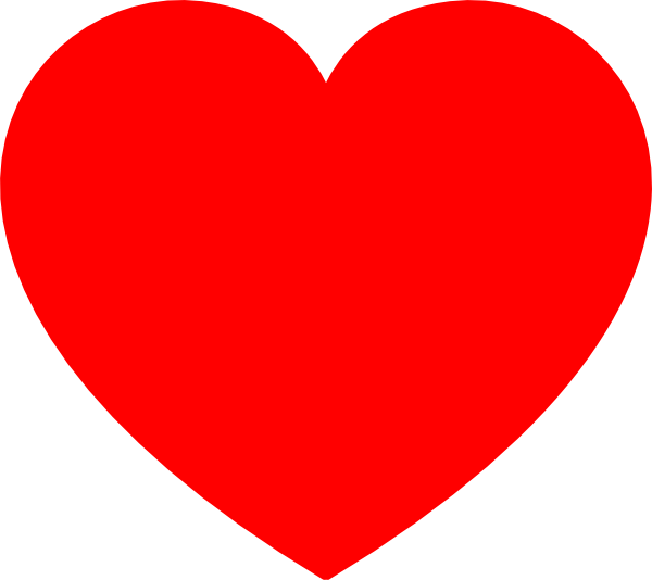 simple red heart png clip art