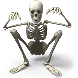 Sitting Skeleton Png image #43849