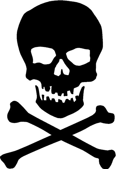 Use These Skull And Crossbones Vector Clipart image #27239