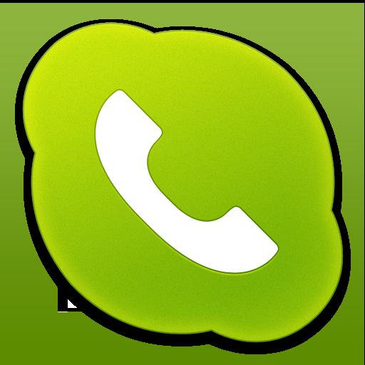 Skype Phone Green Icon  Skype Icons  SoftIconsm