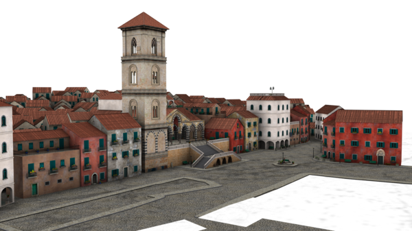 Small Town Buildings 3d Png image #3518