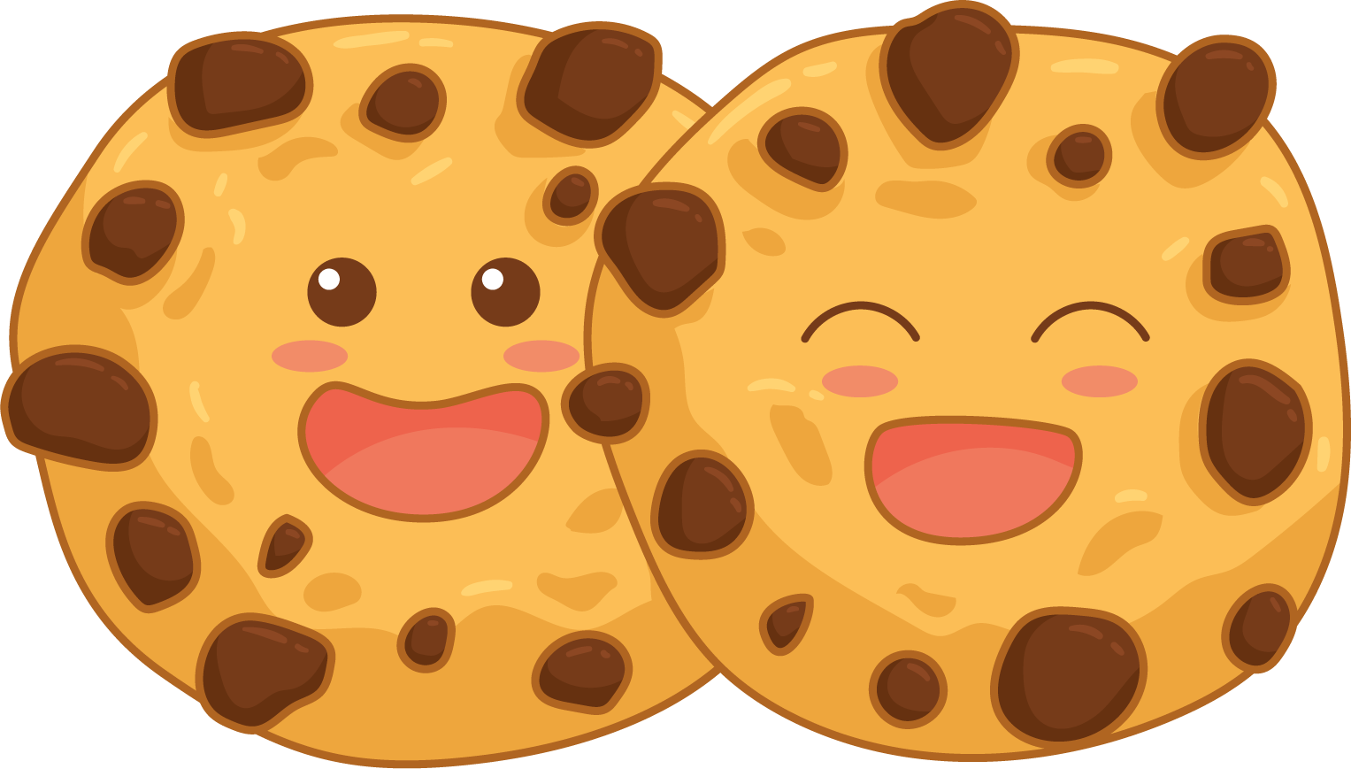 Smiling Face Chocolate Cookie Symbol Images image #47945