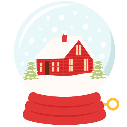 snow globe, winter house png