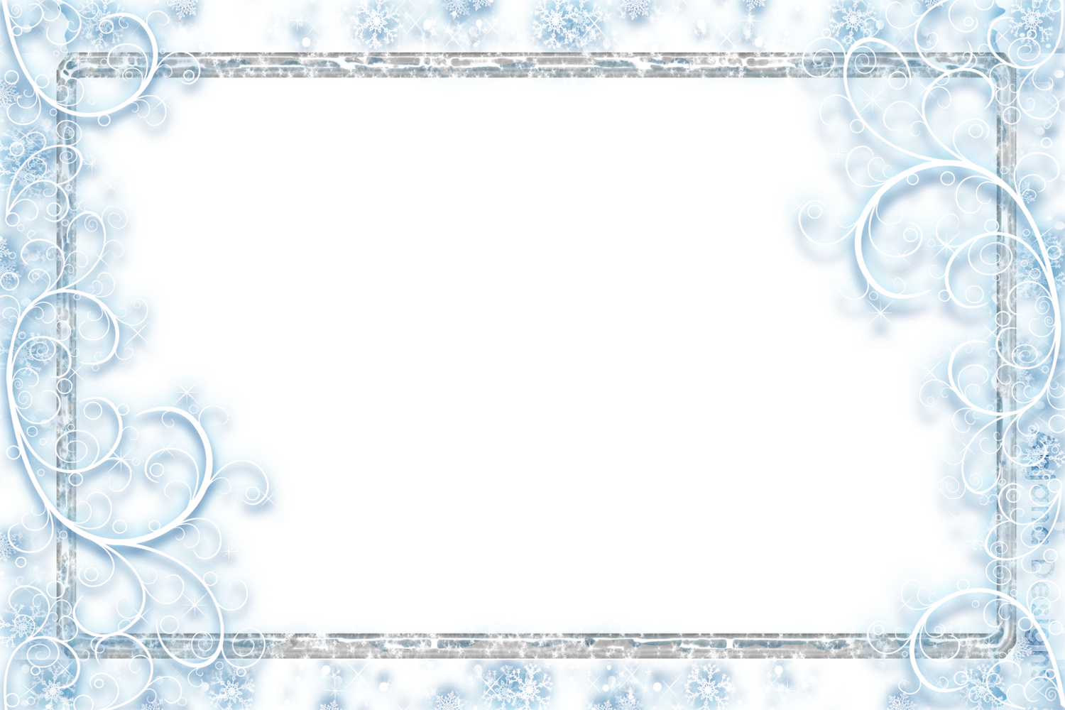 Snowflakes Falling Png Frame 34479 Free Icons And Png