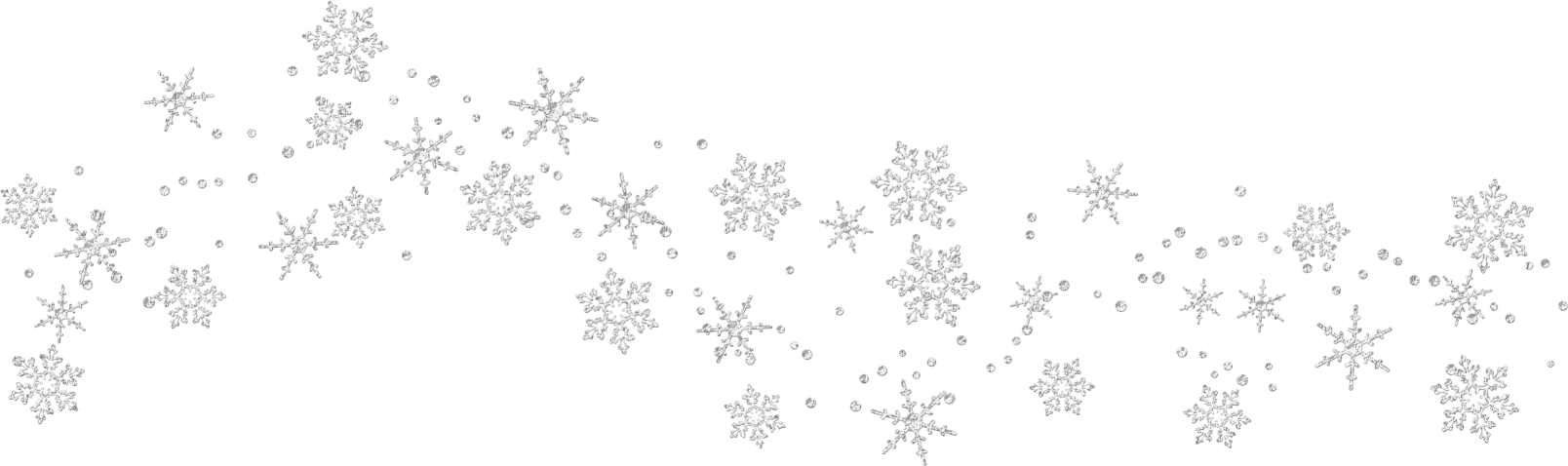 snowflakes falling png transparent