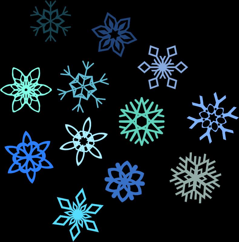 snowflakes png hd img