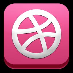 social, button, dribbble icon