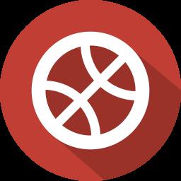Social, Button, Dribbble Icon image #40180