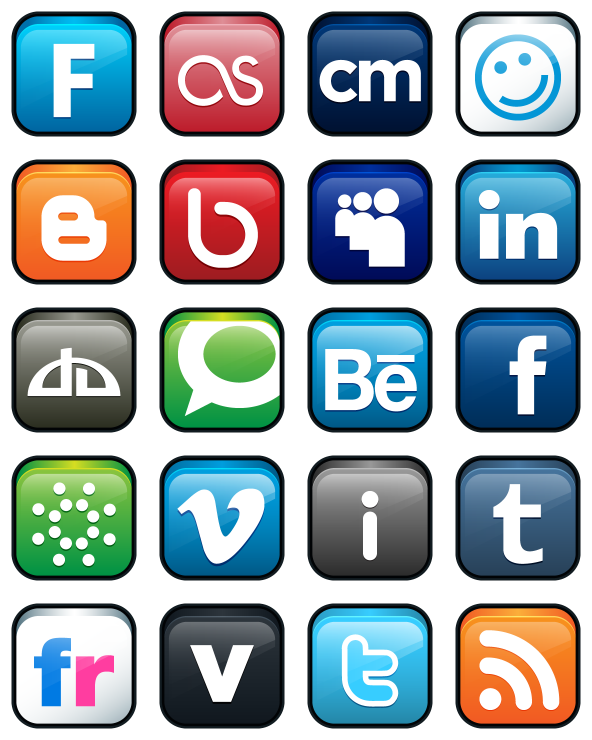 Social Icons Free, Social Media Logos PNG, Social Media Icon