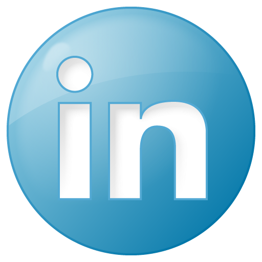 Social linkedin button blue Icon | Social Bookmark Iconset | YOOtheme