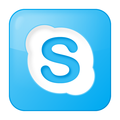 Social Skype Box Blue Icon | Social Bookmark Iconset | YOOtheme image #1831