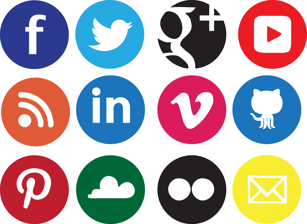 20 Beautiful Free Flat Social Media Icons Sets 2016 - colorlib