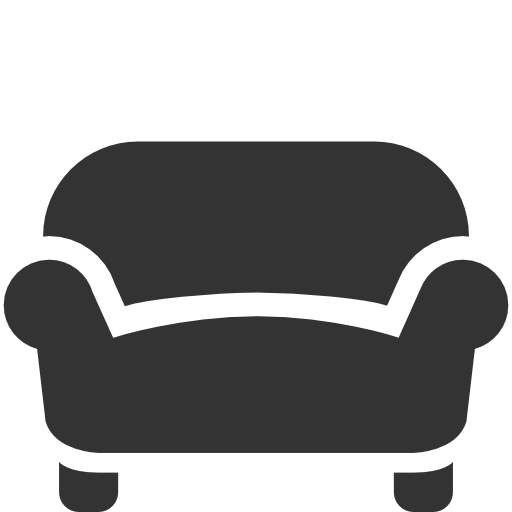 Sofa black icon
