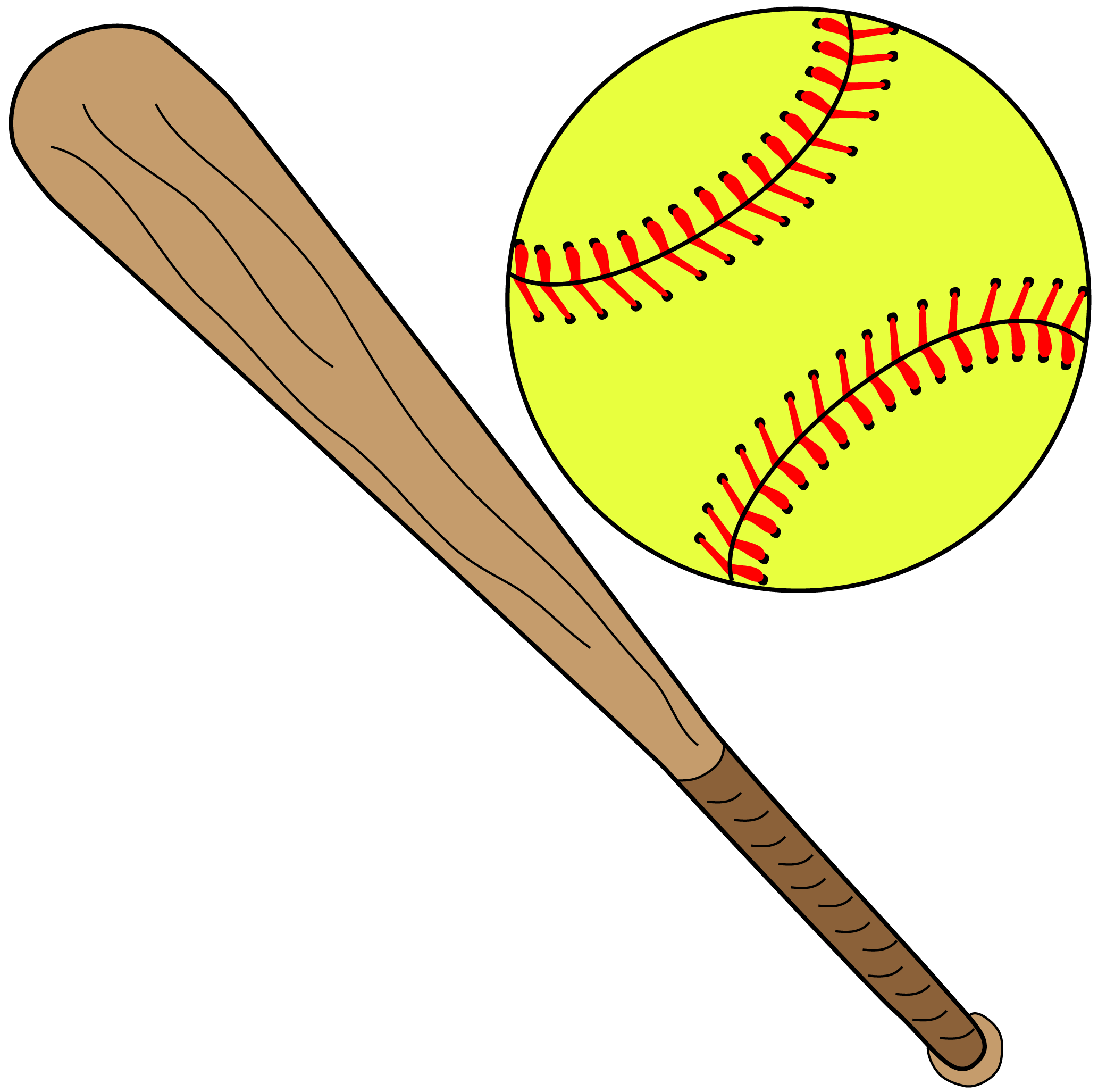 Softball With Bat Png image #38802