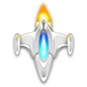 Icon Drawing Spaceship 128x128, Spaceship HD PNG Download