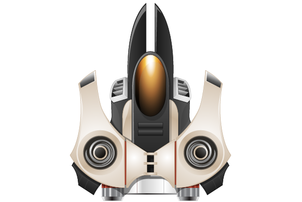 Vector Drawing Spaceship image #17260