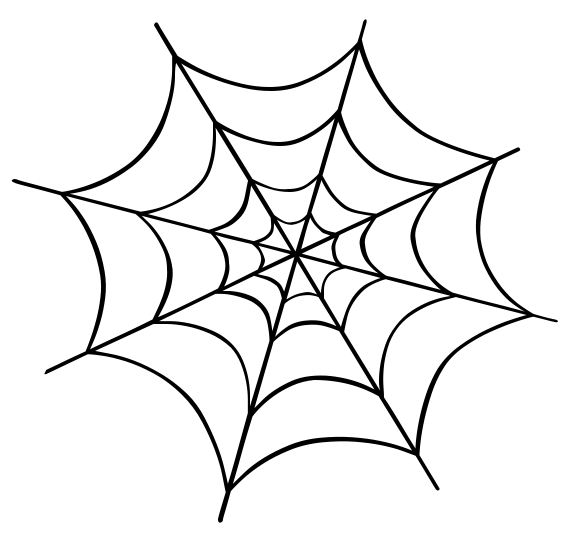 HD Spider Web PNG image #34734