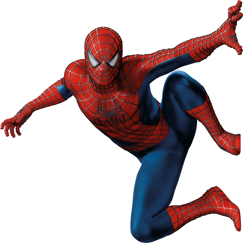 Spiderman posture clipart