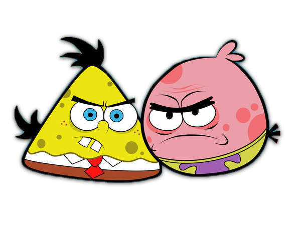 Spongebob angry birds Png