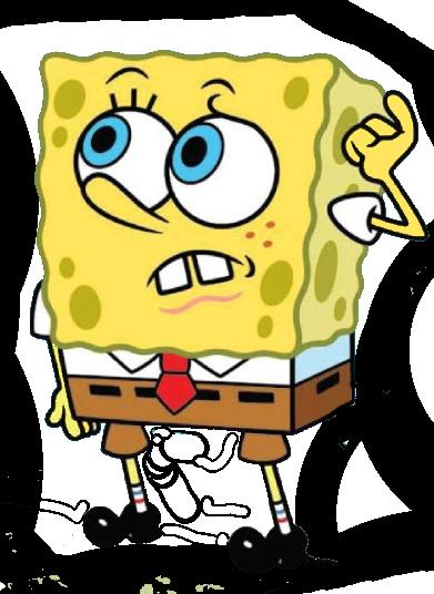 SpongeBob confused png