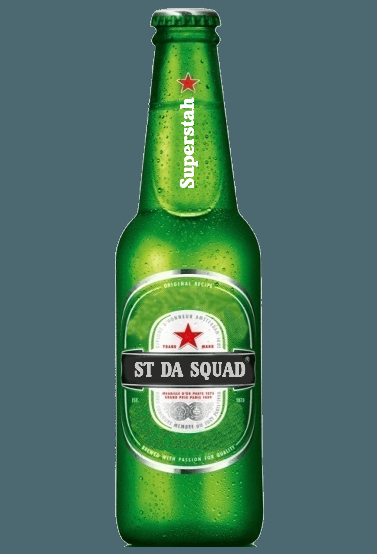 st da squad brand glass bottle