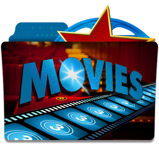 Star Blue Construction Movies Folder Transparent Background