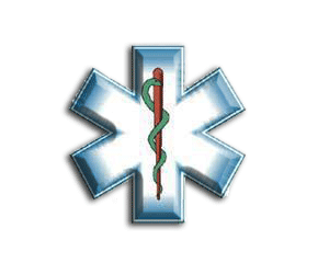 Blue star of life clipart