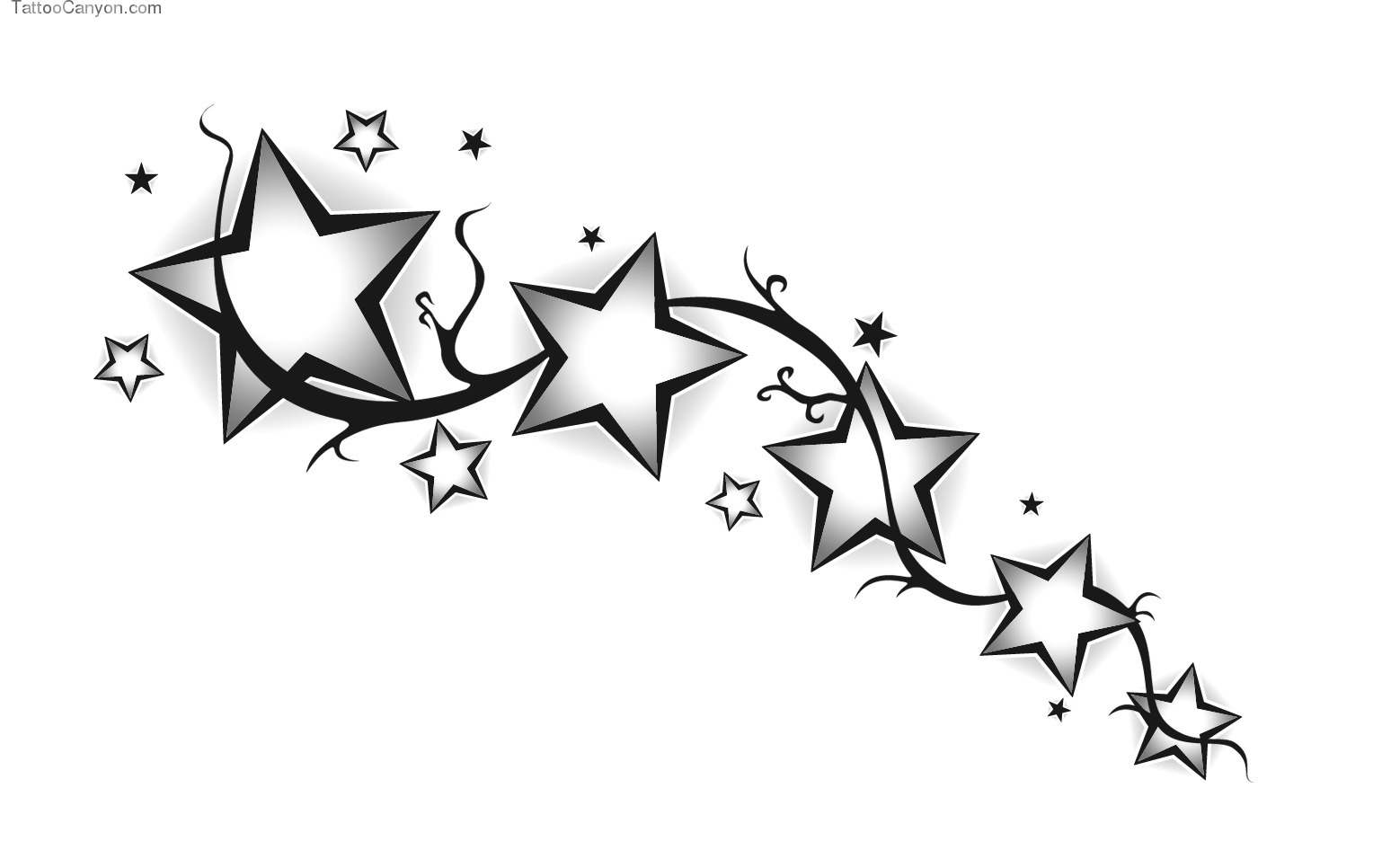 Stars Tattoos Png image #19380