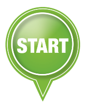 start green icon button