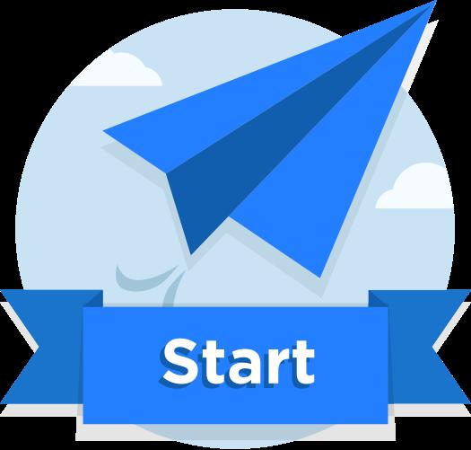 Start Png Blue image #44887