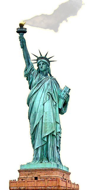 statue of Liberty clipart burning torch
