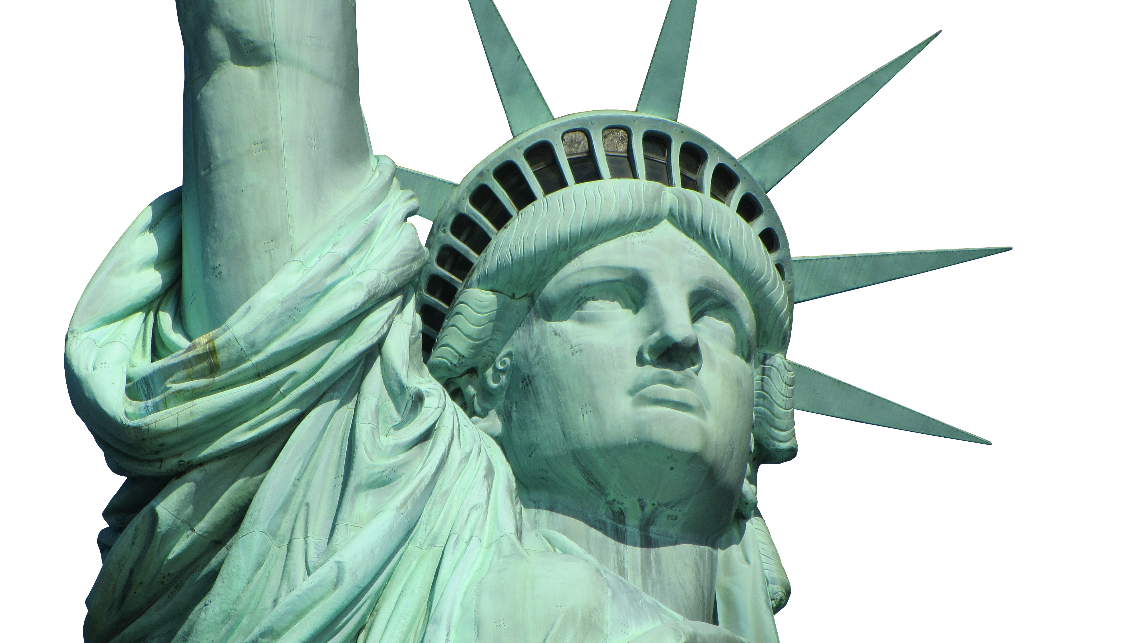 Statue Of Liberty, Face, Crown