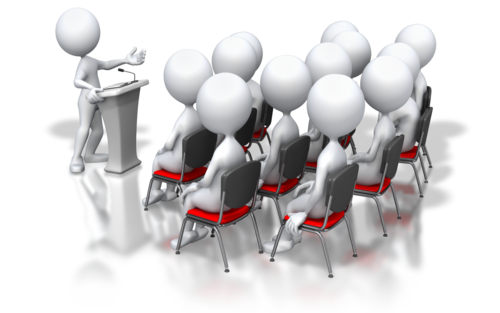 Stick Figure Podium Speech Group Png image #3229