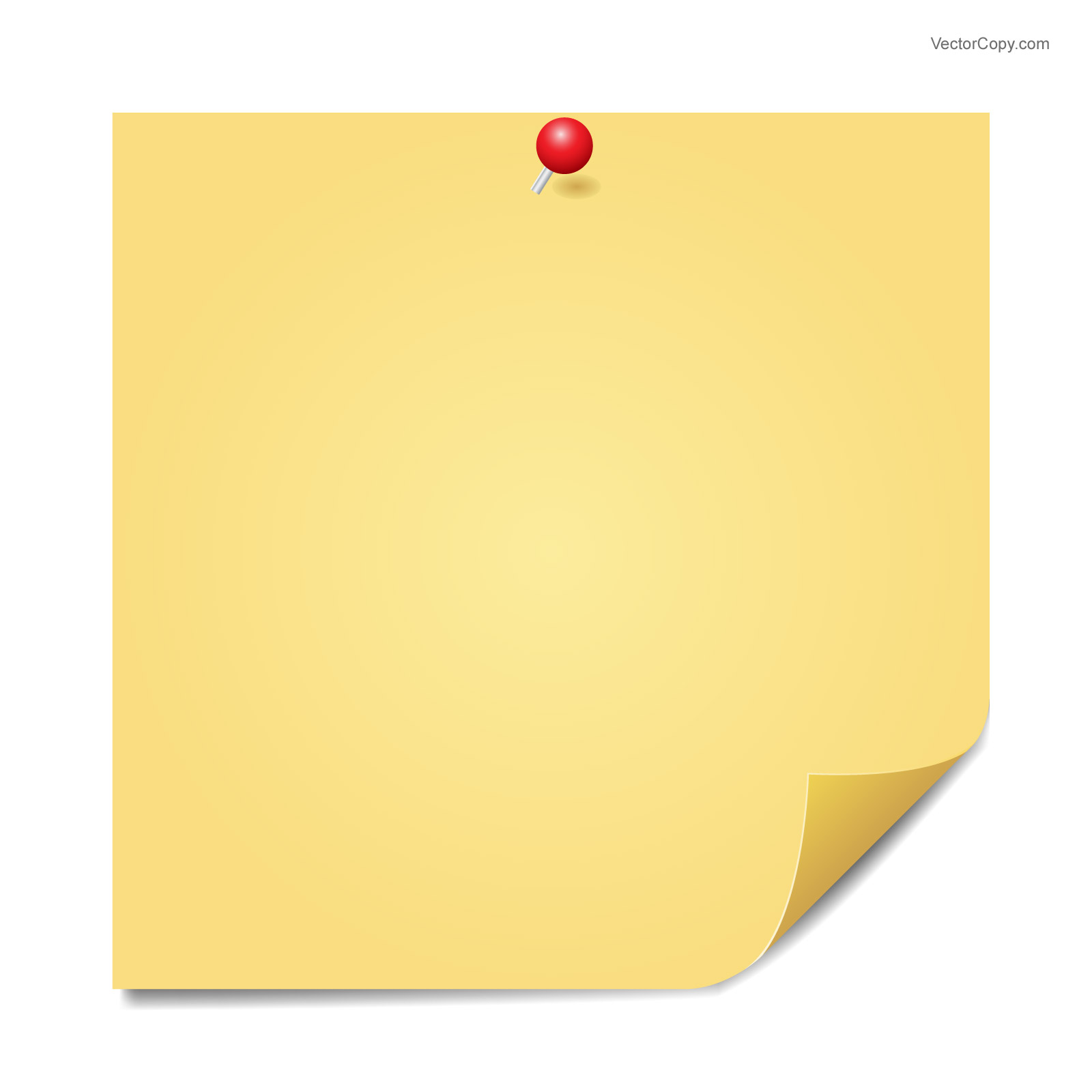 Icon Sticky Vector image #17865