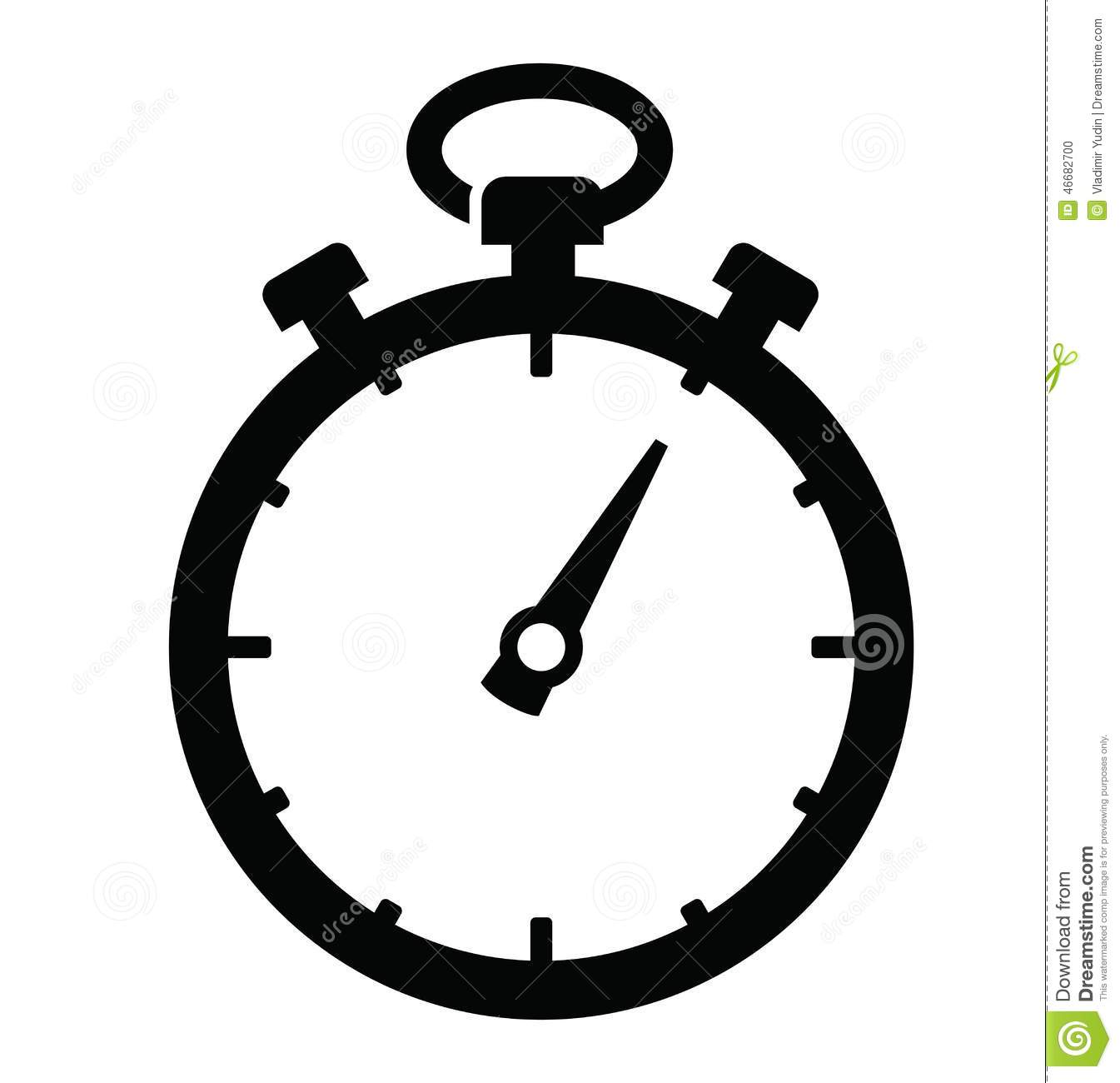 Stopwatch Icon Vector image #7040