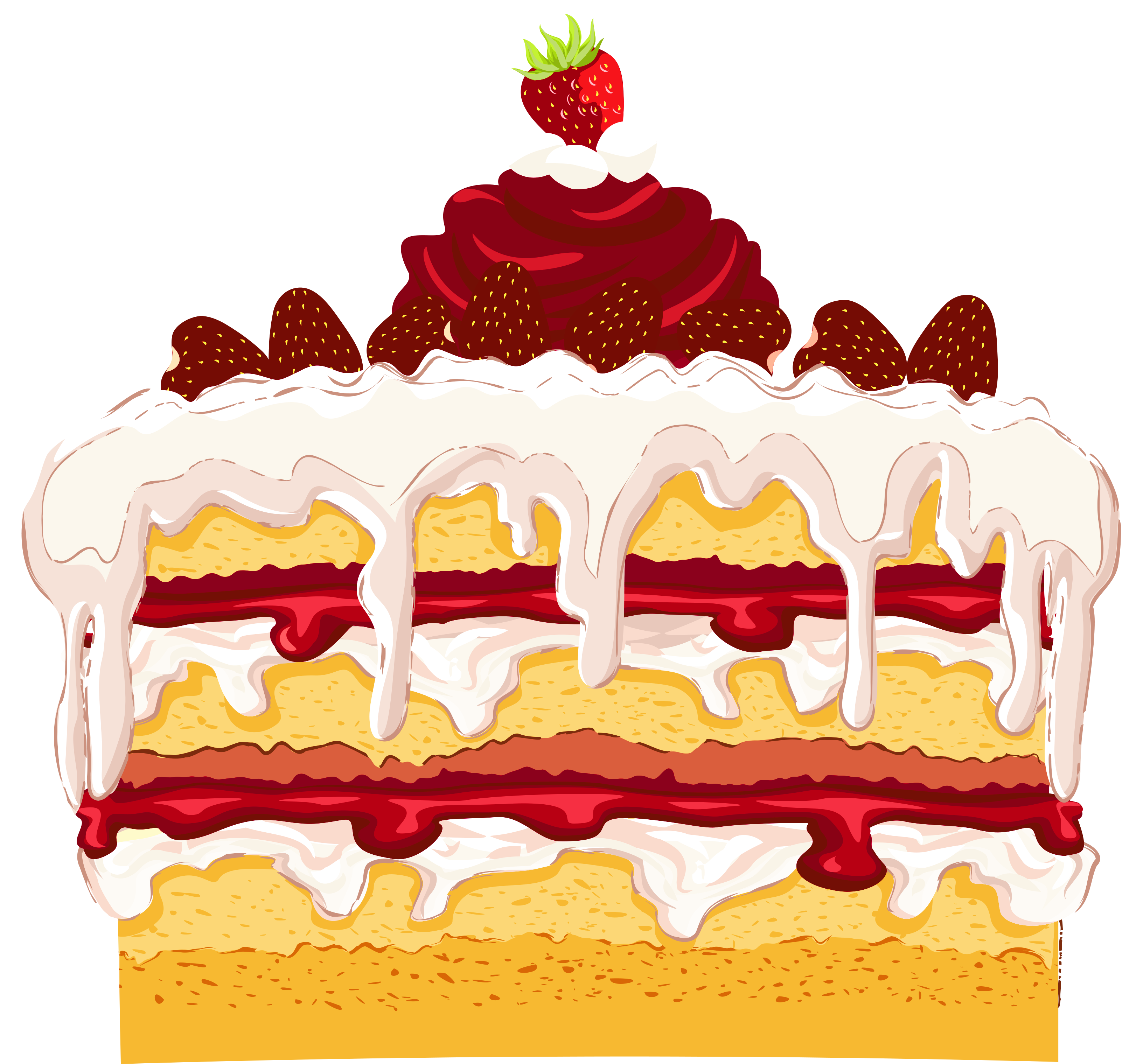 Strawberry Cake PNG image #26273