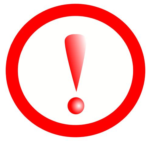 Stylish New Error Red Exclamation Point Picture image #48251