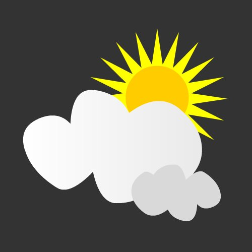 Drawing Sunny Vector image #23529
