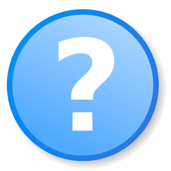 Support, talk, Blue Question Mark Icon