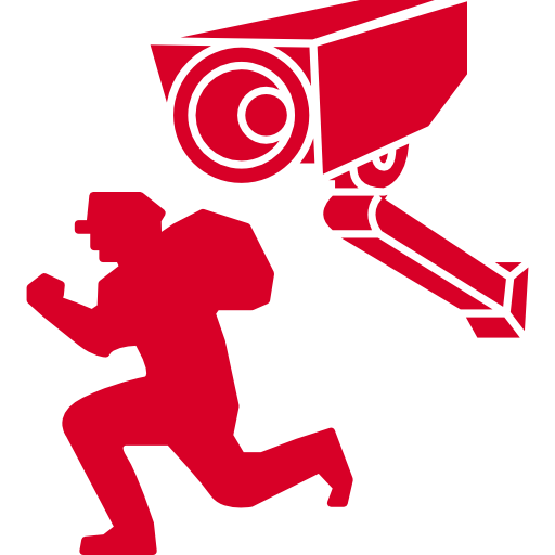 Surveillance Camera Filming A Robber Png image #5021