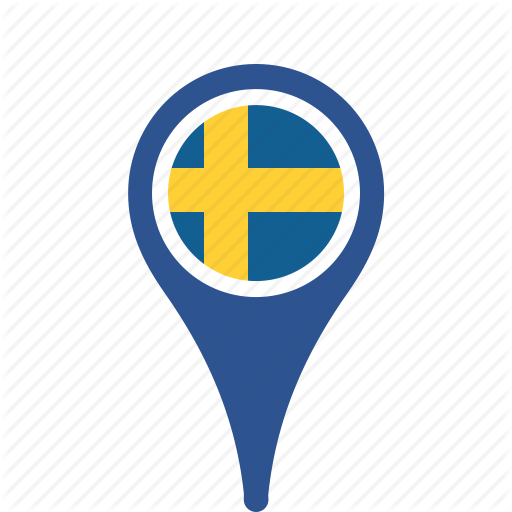 Sweden Flag Icon Free Icons And PNG Backgrounds - Sweden map flag