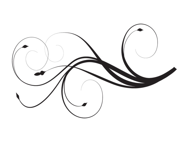 Use These Swirl Line Vector Clipart